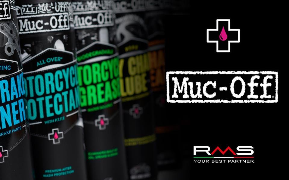 RMS distribuisce Muc-Off: i detergenti e lubrificanti più efficaci da oggi nel nostro magazzino!