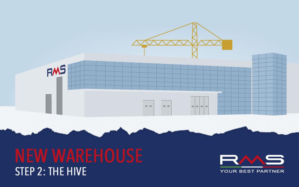 Numeri, funzioni e qualità: scopriamo HIVE, il nuovo magazzino automatizzato RMS!