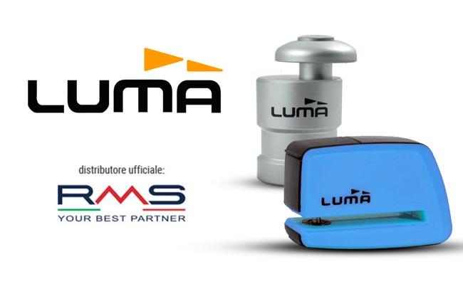 Tutto per la sicurezza della moto: RMS nuovo distributore degli antifurti Luma