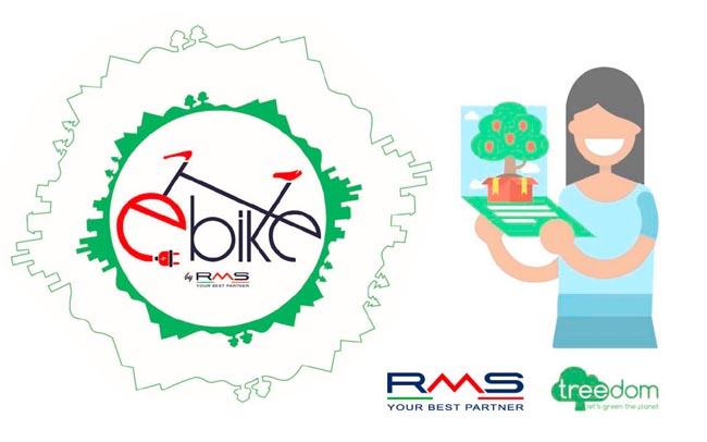 Con RMS e-bike è due volte green: un albero adotta